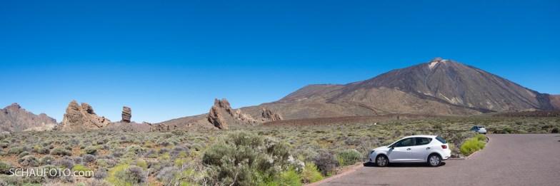 Roques de Garcia mit Teide-Sicht.