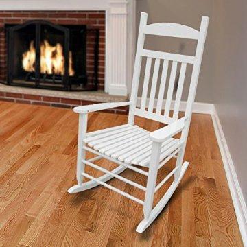 1PLUS Klassischer Schaukelstuhl aus Massivholz auch ideal zum Stillen in versch. Ausführungen (Creme, Sina) -