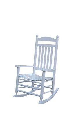 1PLUS Klassischer Schaukelstuhl aus Massivholz auch ideal zum Stillen in versch. Ausführungen (Creme, Paolo) -