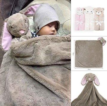 GudeHome Babydecke Bademantel aus Mikrofaser Babyhandtuch mit Kapuze lustiges Kuscheldecke Strickdecke Kapuzenhandtuch kuscheliger PonchoKapuzenbadetuch(Weiße Schafe) -