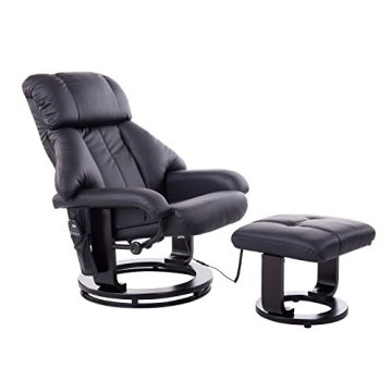 homcom 700-008BK Massagesessel, Kunstleder, Schaumstoff, Holz, Metall, schwarz, 76.0 x 80.0 x 102.0 cm -