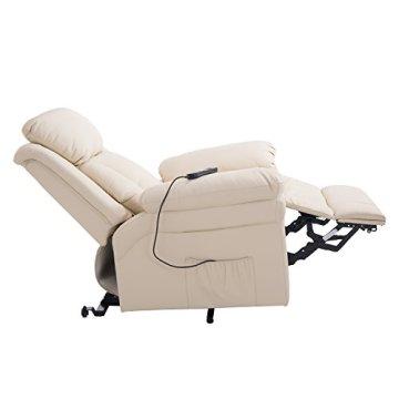homcom elektrischer fernsehsessel aufstehsessel relaxsessel sessel mit aufstehhilfe creme. Black Bedroom Furniture Sets. Home Design Ideas