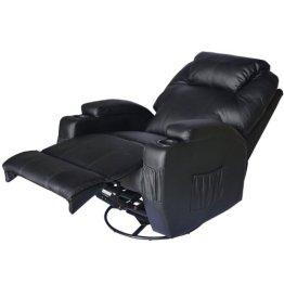 Homcom® Massagesessel Relaxsessel Fernsehsessel TV Sessel mit Heizfunktion Massagefunktion (schwarz/mit Heizfunktion) -