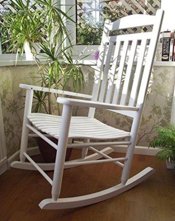 Neu Traditionelle Bauernhaus Stil Weißen Schaukelsessel Living Bed Zimmer Wintergarten. -