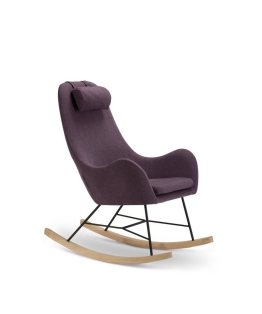 SalesFever Schaukelstuhl Sessel mit Armlehnen und Stoff bezogen »Rocha«