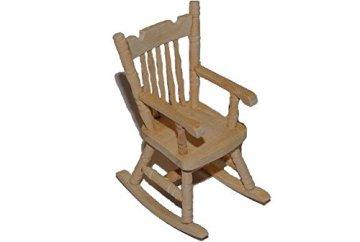Schaukelstuhl Stuhl aus Holz – Miniatur für Puppenstube Puppenhaus – Puppenstuben – Maßstab 1:12- Wohnzimmer -