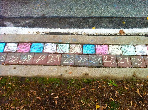 Santa Claus Parade 2013 - Chalk Numbers