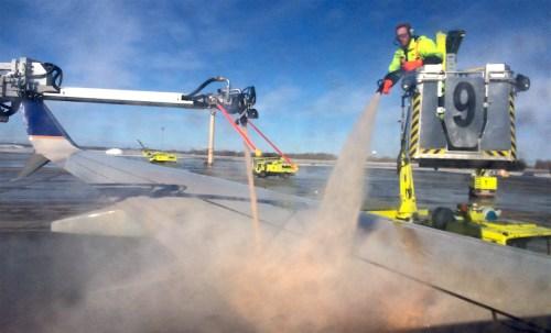 De-icing the plane