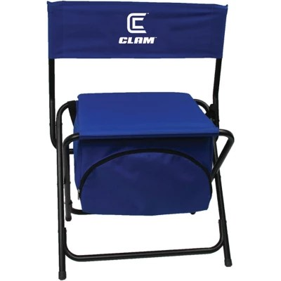 fishing cooler chair ivory covers for weddings sale clam folding