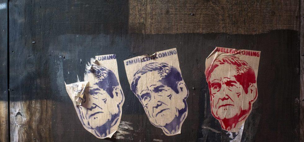 Street art with Robert Mueller's face