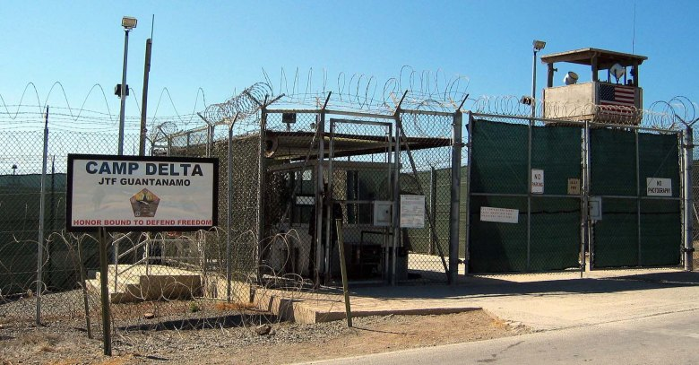 Entrance to Camp Delta at the Guantánamo Bay detention camp in Cuba.