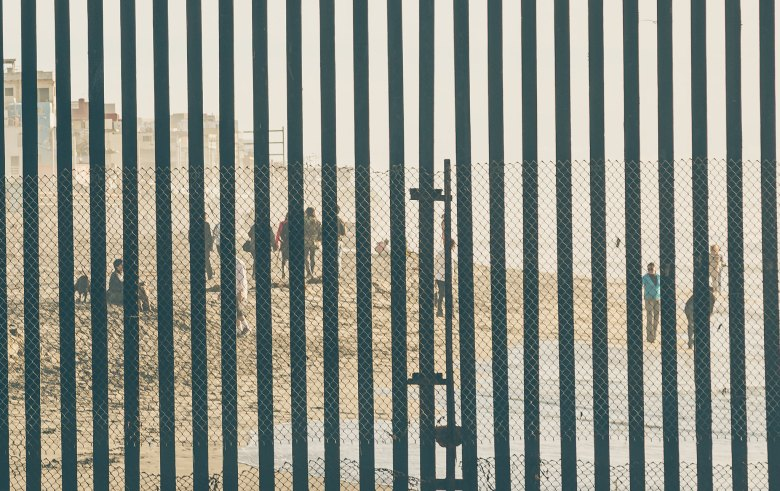 Border fence between the U.S. and Mexico.