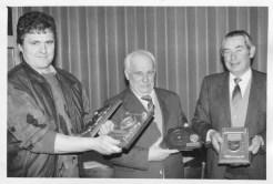 Ehrungen Taubenverein Heimatliebe 23.01.1991 Michael Haselhorst Jupp Wulf Alfred Hagedorn
