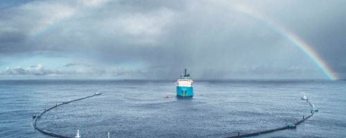 Ocean Cleanup start met opruiming van afvalberg in Stille Oceaan