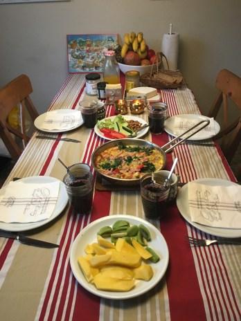 Hyggeligt morgenbord lille juleaften
