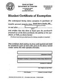 State Sales Tax: State Sales Tax Exemption Form Ohio