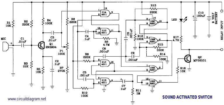Digital Graphic Equalizer Circuit Diagram, Digital, Free