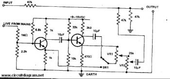 Hum Remover circuit diagram