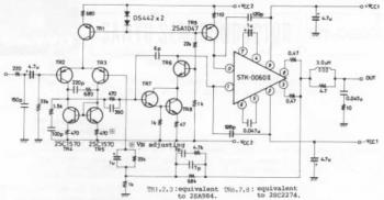 60W AF Amplifier With STK-0060II circuit diagram