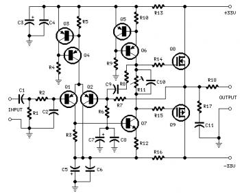 25W Power Amplifier with MOSFET IRF530/IRF9530