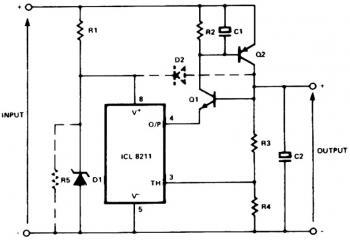 Positive Regulator Circuit with PNP and NPN Transistor