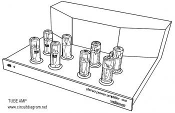 2x90W Stereo Tube Power Amplifier with EL34 circuit diagram