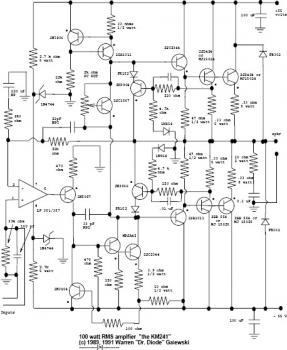 200W RMS Power Amplifier circuit « Audio Circuit