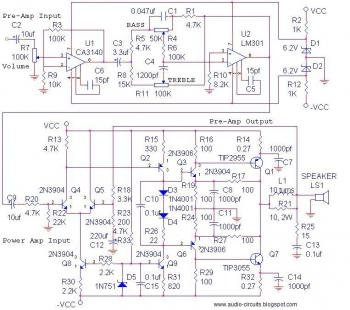 Audio Circuits: July 2009 » amplifier circuit, equalizer
