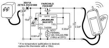 Lithium-ion (Li-ion) Battery Charger with MAX1879