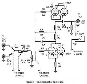 High Gain Stereo Tube Preamplifier « Audio Circuit