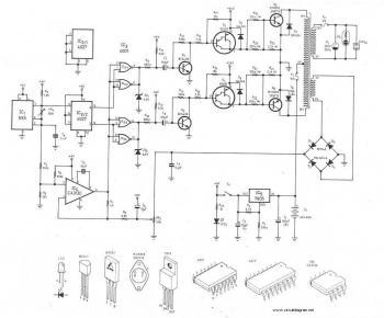 300Watt Inverter DC 24V to AC 220V circuit diagram