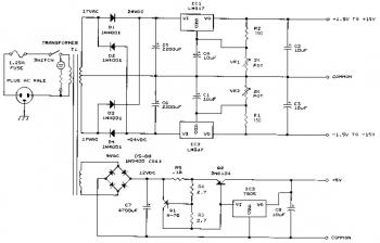 Bench Power Supply This is the schematic diagram of bench