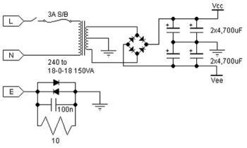 Class AB Power Amplifier Circuit 30w Using Power
