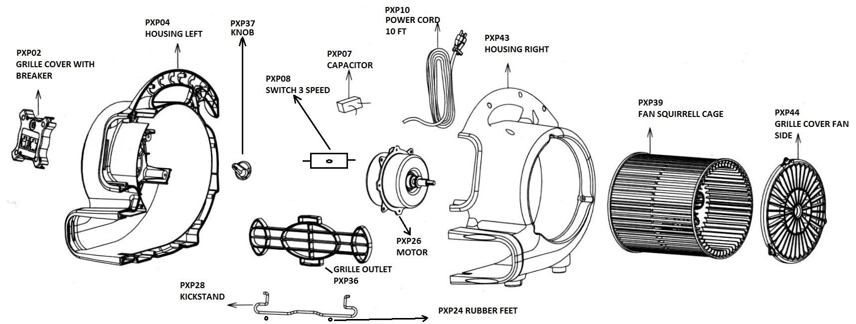 AC085 OmniDry Mini Air Mover 1621-1056
