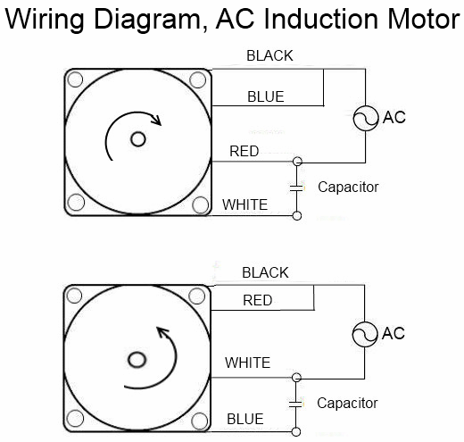 110/220 Volt Induction Motor Wiring Diagram
