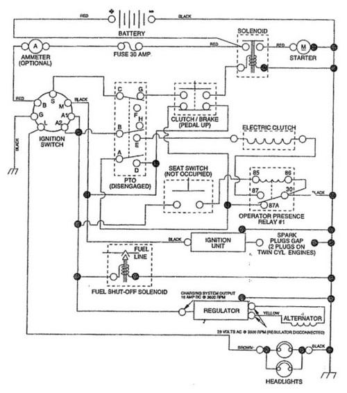 12hp Murray I/c Ignition Switch Wiring Diagram