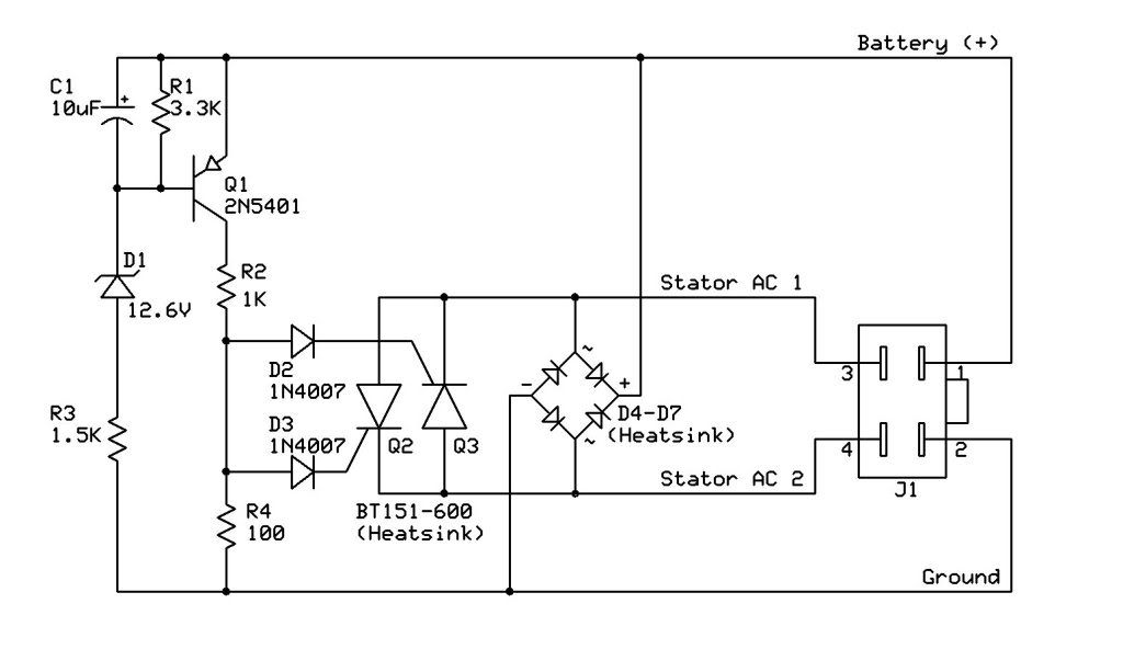 150cc Gy6 Voltage Regulator Wiring Diagram