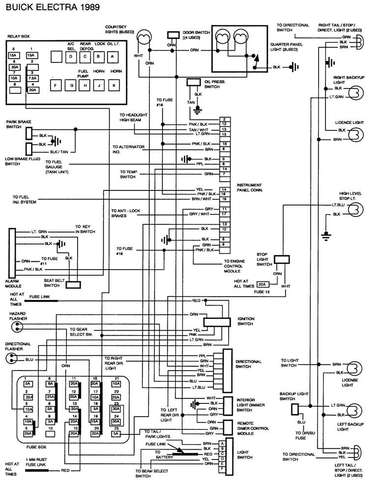 1884 Buick Park Avenue Pcm Wiring Diagram