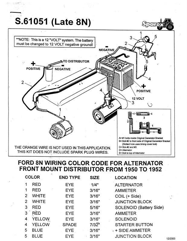 ford 8n 12 volt conversion wiring diagram relay wire 1948 tractor
