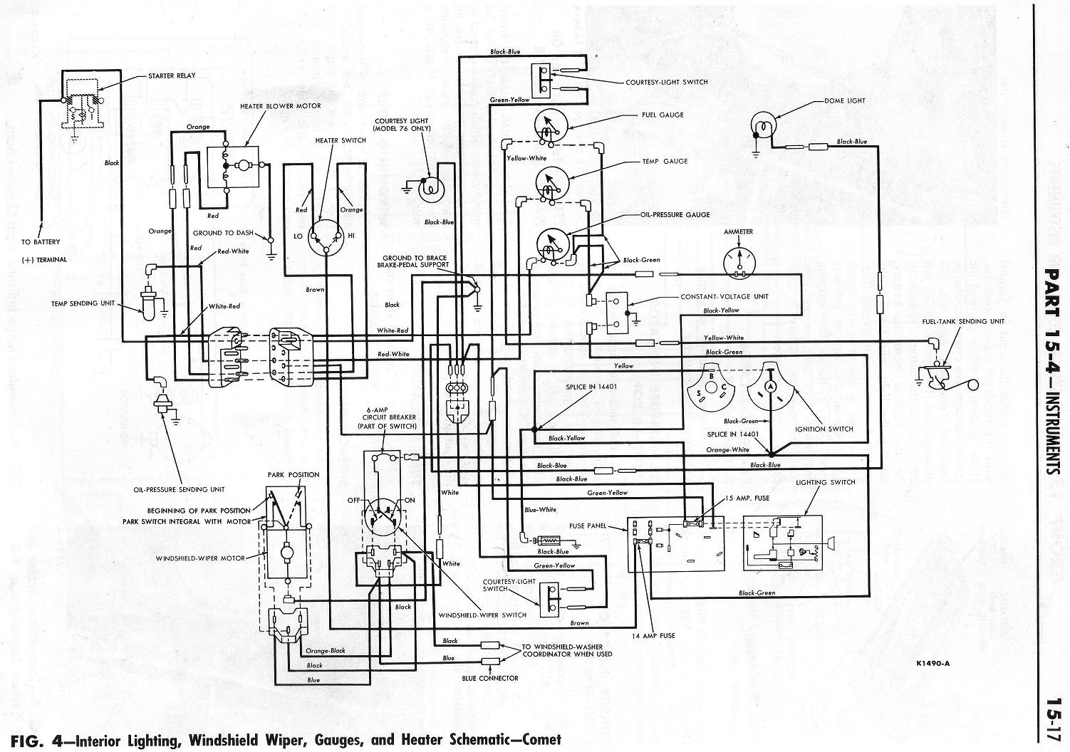 Ford Thunderbird Wiring Diagram For Brake And Taillights
