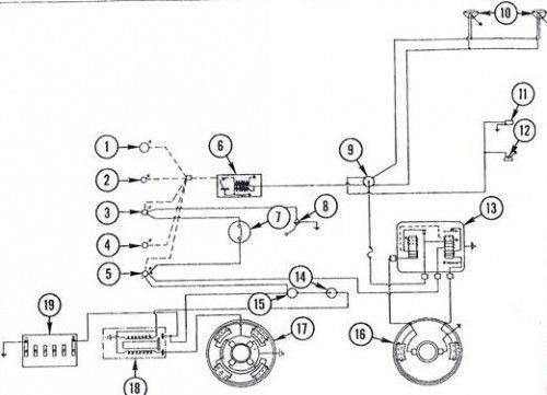 1967 Massey Ferguson 135 Headlight Wiring Diagram