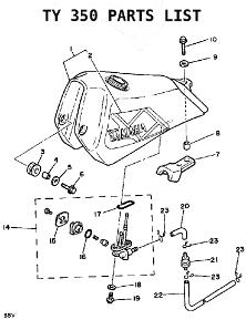 1974 Yamaha Ty250 Wiring Diagram