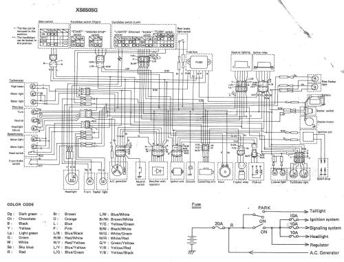 small resolution of 1979 yamaha xs650 wiring diagram