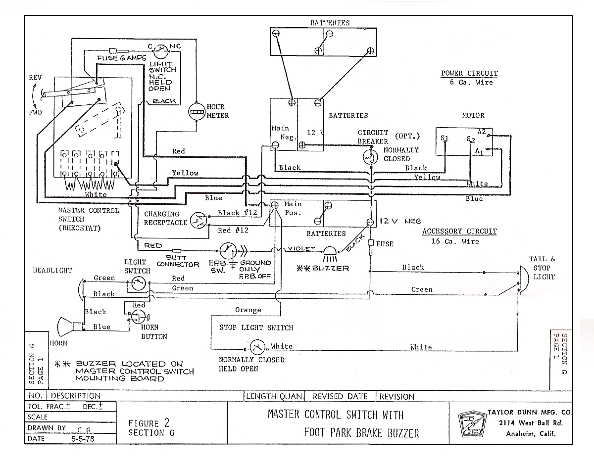 Cushman Titan 36 Volt Battery Wiring Diagram