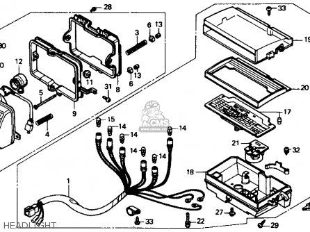 1985 Honda Trx 125 Wiring Diagram