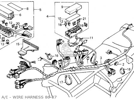 1986 Honda Gl1200 Aspencade Goldwing Wiring Diagram