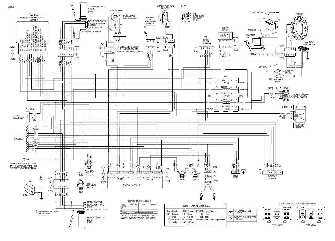 hight resolution of 1987 harley davidson softail custom with evo motor turn signals wiring diagram