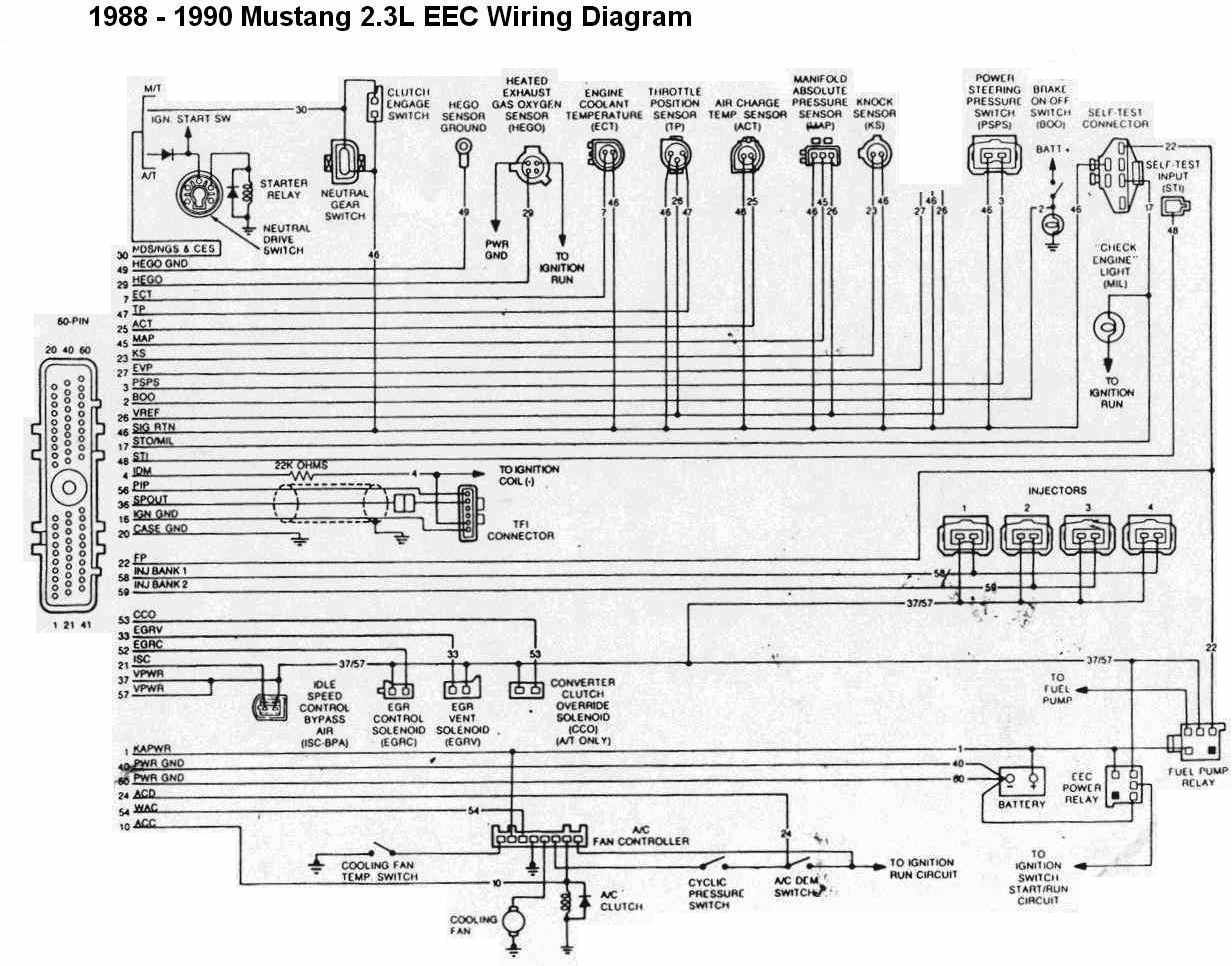 1991 Mustang 2.3 Ignition Switch Wiring Diagram