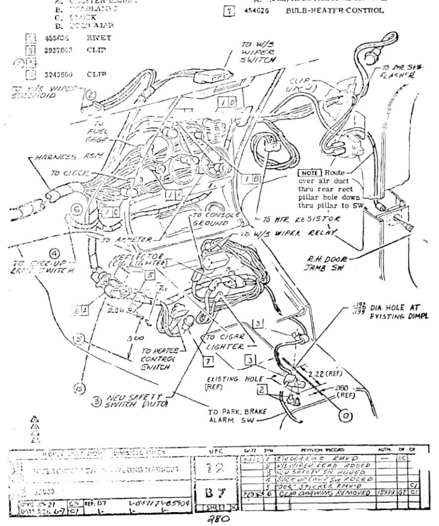 1993-1996 Corvette Console Wiring Diagram
