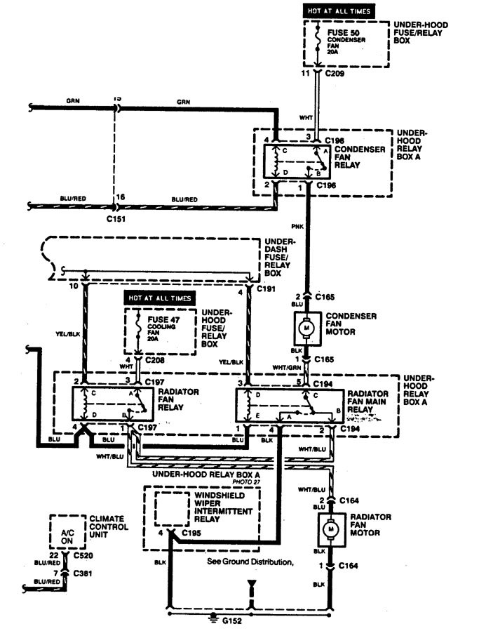 1994 E350 Electric Radiator Fan Wiring Diagram